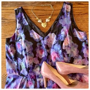 Sleeveless Floral Dress by City Chic